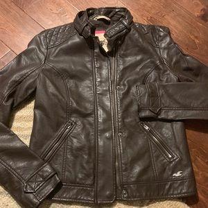 Hollister faux leather jacket